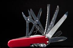 μαχαίρι κόκκινος Ελβετό&sigma Στοκ Εικόνα