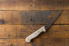 Μαχαίρι στο ξύλινο υπόβαθρο Στοκ Εικόνα