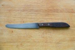 Μαχαίρι στο φραγμό στοκ εικόνες