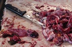 μαχαίρι innards ψαριών Στοκ Φωτογραφίες