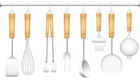 Μαχαιροπήρουνα κρεμαστρών εργαλείων κουζινών ελεύθερη απεικόνιση δικαιώματος
