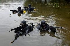 Μαχητές κατάρτισης στη Μόσχα. Στοκ φωτογραφία με δικαίωμα ελεύθερης χρήσης