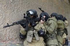 Μαχητές κατάρτισης στη Μόσχα. Στοκ Φωτογραφία