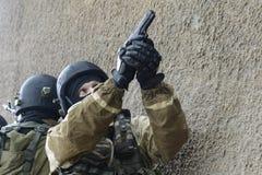 Μαχητές κατάρτισης στη Μόσχα Στοκ Εικόνα