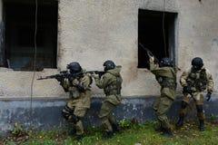 Μαχητές κατάρτισης στη Μόσχα. Στοκ Εικόνες