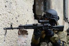 Μαχητές κατάρτισης στη Μόσχα Στοκ φωτογραφία με δικαίωμα ελεύθερης χρήσης