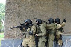 Μαχητές κατάρτισης στη Μόσχα Στοκ Εικόνες