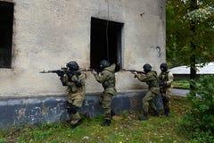Μαχητές κατάρτισης στη Μόσχα Στοκ εικόνα με δικαίωμα ελεύθερης χρήσης