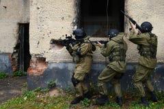 Μαχητές κατάρτισης στη Μόσχα Στοκ εικόνες με δικαίωμα ελεύθερης χρήσης