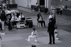 Μαχητές κοριτσιών Jitsu Jiu στοκ εικόνες με δικαίωμα ελεύθερης χρήσης