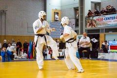 Μαχητές στο χαλί Στοκ Εικόνες