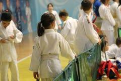 Μαχητές Jitsu Jiu στο ρουμανικό πρωτάθλημα, νεώτεροι, το Μάιο του 2018 στοκ φωτογραφίες