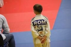 Μαχητές Jitsu Jiu στο ρουμανικό πρωτάθλημα, νεώτεροι, το Μάιο του 2018 στοκ εικόνα