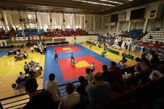 Μαχητές Jitsu Jiu στο ρουμανικό πρωτάθλημα, νεώτεροι, το Μάιο του 2018 στοκ φωτογραφία με δικαίωμα ελεύθερης χρήσης