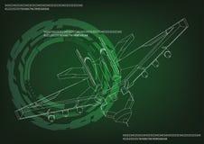 Μαχητής σε ένα πράσινο ελεύθερη απεικόνιση δικαιώματος