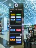 Μαϊάμι, Φλώριδα, ΗΠΑ - Aprile 28, 2018: Το γραφείο αυτοκινήτων ενοικίου στον αερολιμένα του Μαϊάμι στοκ φωτογραφίες