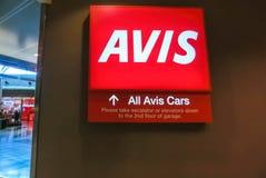 Μαϊάμι, Φλώριδα, ΗΠΑ - Aprile 28, 2018: Το γραφείο αυτοκινήτων ενοικίου της Avis στον αερολιμένα του Μαϊάμι στοκ εικόνες με δικαίωμα ελεύθερης χρήσης