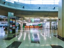 Μαϊάμι, Φλώριδα, ΗΠΑ - Aprile 28, 2018: Το γραφείο αυτοκινήτων ενοικίου Enterprice στον αερολιμένα του Μαϊάμι στοκ εικόνες