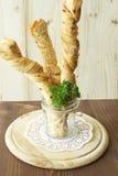 Μαϊντανός testas ριπών ραβδιών ψωμιού, σπόροι σουσαμιού και κρεμμύδι Στοκ Εικόνα