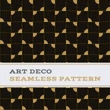 Μαύρα άσπρα και χρυσά χρώματα 13 σχεδίων του Art Deco άνευ ραφής Στοκ Εικόνες