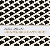 Μαύρα άσπρα και χρυσά χρώματα 12 σχεδίων του Art Deco άνευ ραφής Στοκ φωτογραφίες με δικαίωμα ελεύθερης χρήσης