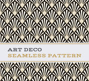 Μαύρα άσπρα και χρυσά χρώματα 03 σχεδίων του Art Deco άνευ ραφής Στοκ Εικόνες