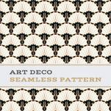 Μαύρα άσπρα και χρυσά χρώματα 04 σχεδίων του Art Deco άνευ ραφής Στοκ φωτογραφίες με δικαίωμα ελεύθερης χρήσης