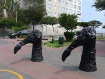 Μαύρα αγάλματα πουλιών στην περιοχή Barranco της Λίμα Στοκ φωτογραφία με δικαίωμα ελεύθερης χρήσης