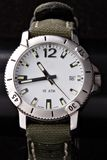 μαύρα αθλητικά ρολόγια Στοκ Εικόνες