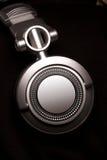 μαύρα ακουστικά του DJ Στοκ Φωτογραφία
