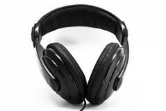 μαύρα ακουστικά Στοκ φωτογραφία με δικαίωμα ελεύθερης χρήσης
