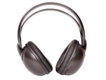 μαύρα ακουστικά Στοκ φωτογραφίες με δικαίωμα ελεύθερης χρήσης