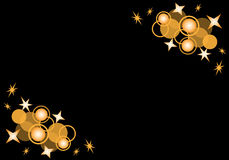 μαύρα αστέρια κύκλων Στοκ φωτογραφία με δικαίωμα ελεύθερης χρήσης