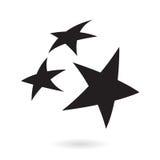 μαύρα αστέρια Στοκ Εικόνα