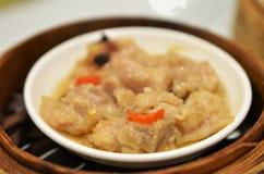 Μαύρα βρασμένα στον ατμό φασόλι πλευρά χοιρινού κρέατος στοκ φωτογραφία με δικαίωμα ελεύθερης χρήσης