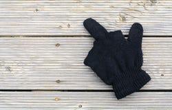 Μαύρα γάντια ως σημάδι για ένα άτομο Στοκ Φωτογραφία