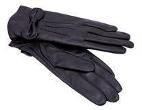 Μαύρα γάντια Στοκ εικόνα με δικαίωμα ελεύθερης χρήσης