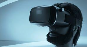 Μαύρα γυαλιά εικονικής πραγματικότητας Στοκ Εικόνες