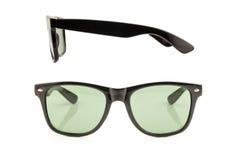 Μαύρα γυαλιά ηλίου μπροστινής και πλάγιας όψης Στοκ φωτογραφίες με δικαίωμα ελεύθερης χρήσης