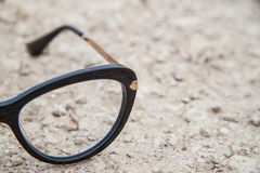 Μαύρα γυαλιά μόδας Στοκ Εικόνα