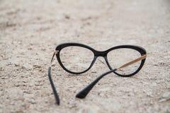 Μαύρα γυαλιά μόδας Στοκ φωτογραφία με δικαίωμα ελεύθερης χρήσης