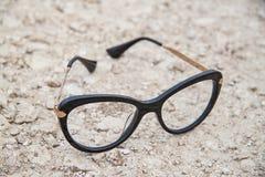 Μαύρα γυαλιά μόδας Στοκ Εικόνες