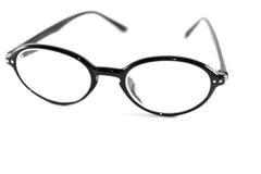Μαύρα γυαλιά στο άσπρο υπόβαθρο στοκ φωτογραφία