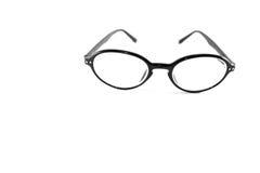 Μαύρα γυαλιά στο άσπρο υπόβαθρο στοκ εικόνες