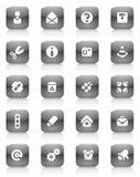 μαύρα διάφορα κουμπιών Στοκ Εικόνες