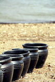 μαύρα δοχεία Στοκ εικόνα με δικαίωμα ελεύθερης χρήσης