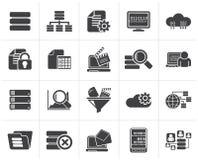 Μαύρα εικονίδια στοιχείων και analytics ελεύθερη απεικόνιση δικαιώματος