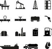 Μαύρα εικονίδια πετρελαίου Στοκ Εικόνες