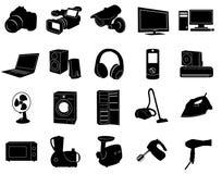 μαύρα εικονίδια Στοκ Εικόνες