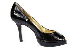 μαύρα θηλυκά παπούτσια Στοκ εικόνα με δικαίωμα ελεύθερης χρήσης